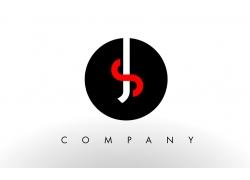 SJ字母标志设计