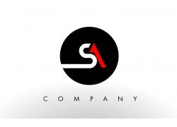 SA字母logo设计
