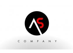 AS字母logo设计