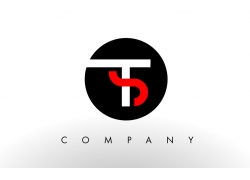 TS字母logo设计