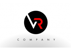 VR字母logo设计