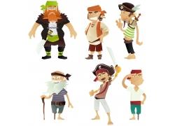 卡通海盗男人漫画图片
