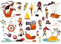 卡通海盗主题漫画图片