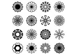 曼陀罗花卉图案