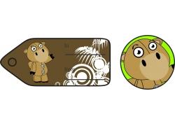 褐色小熊礼品卡标签图片