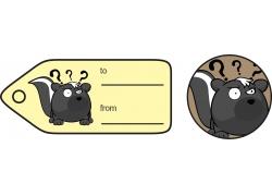 黄色礼品卡标签图片