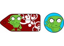 禁止的绿色怪物礼品卡标签图片