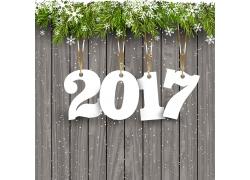 2017新年海报木板背景
