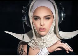 修女造型美女DJ