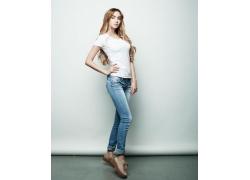 牛仔裤美女模特