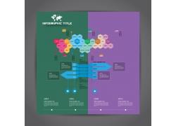 彩色多边形商务图表