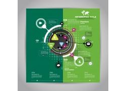 绿色圆环时间轴图表