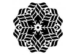 曼荼罗花卉图案