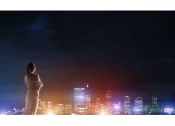 看夜景的女人