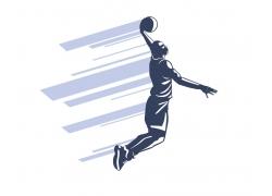 打篮球的运动员
