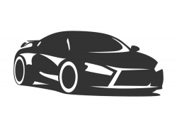 黑色卡通汽车设计