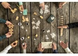 团队合作拼拼图