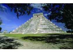 墨西哥金字塔风景