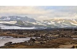高原荒漠风景