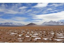 冬天荒漠风景