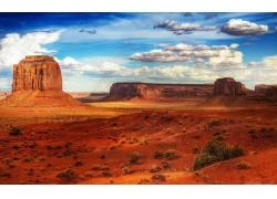 蓝天白云沙漠背景