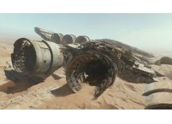 沙漠里的飞船
