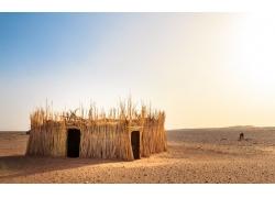 沙漠上的棚屋
