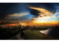 中东城堡风景