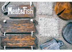 木板吊牌与菜板