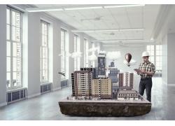 建筑师与沙盘