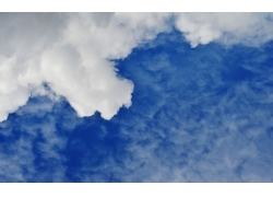 天空云朵背影