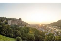 高山城堡建筑美景