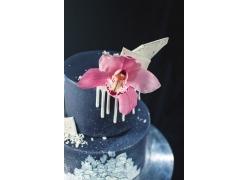 蛋糕与兰花