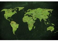 创意绿色地图
