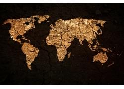 金色世界地图
