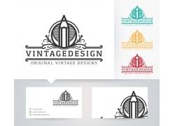 创意铅笔logo设计