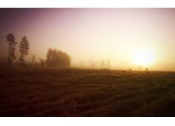 清晨田园风光壁纸