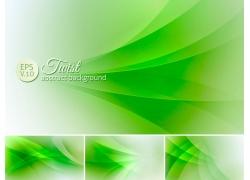 绿色渐变曲线背景