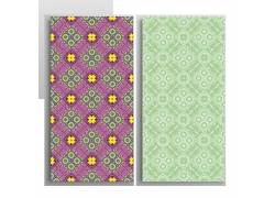 彩色和绿色无缝花纹图案