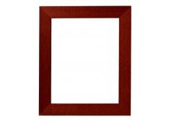 深红木制画框