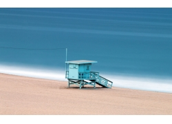 海边沙滩上的房子图片