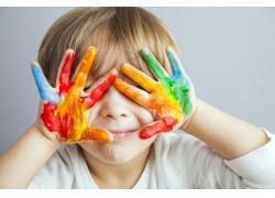 彩色儿童油漆手