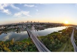 城市日出风景