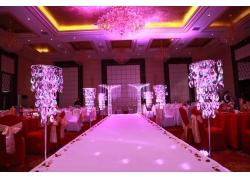 室内紫色婚礼现场