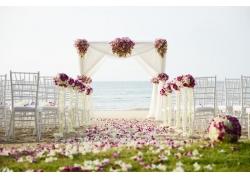 大海与婚礼现场