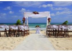 大海海边婚礼现场