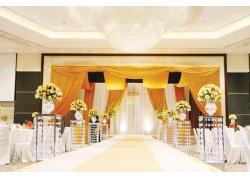 黄色婚礼现场
