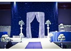 蓝色婚礼现场舞台