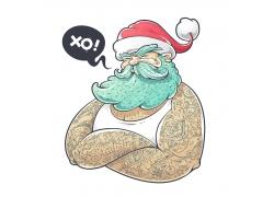 戴圣诞帽的男人