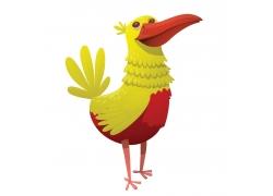 黄红色小鸟漫画